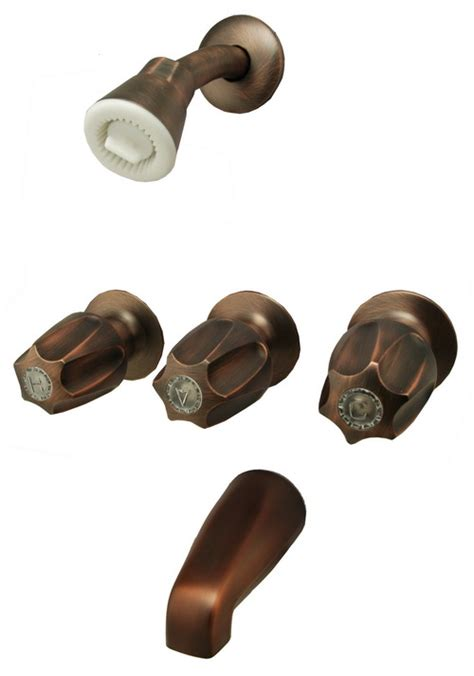 antique copper 3 handle tub shower faucet 34300r ebay