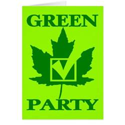 the green party of canada greeting card zazzle