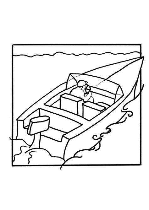 dessin bateau de course coloriage d un bateau de course sur la mer