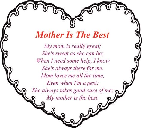 happy mothers day poems from to