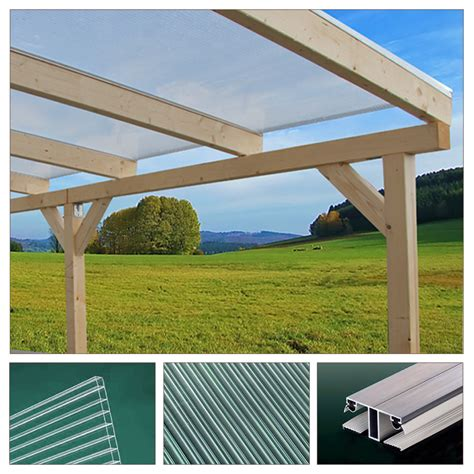 Wooden Canopy Solid Wood Canopy Set Roof Polycarbonate Sheet Garden