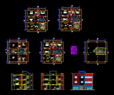 apartment tower ground floor   levels dwg plan