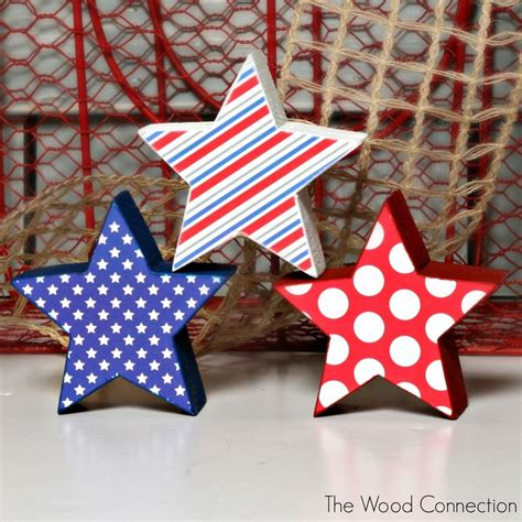 chunky star crafts patriotic decorations unfinished