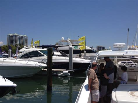 luxury yachts on display at suncoast boat show in sarasota - Boat Show Sarasota