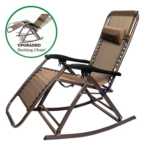 Reclining Lounge Chair Partysaving Infinity Zero Gravity Rocking Chair Outdoor