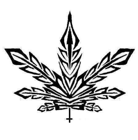 weed tribal tattoos marijuana tribal warren dolbashian flickr