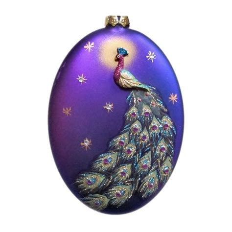 232 best christmas ornaments peacock images on pinterest