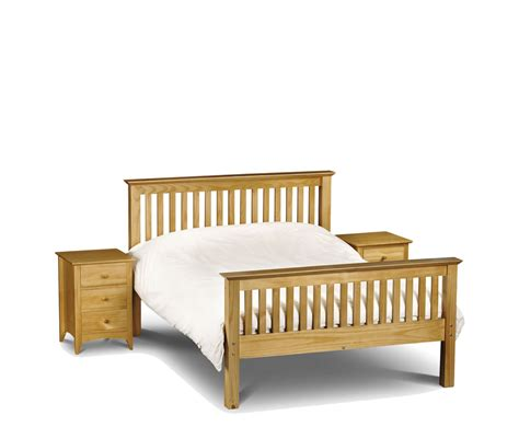 High Bed Frame Barcelona Pine High Foot End Bed Frame