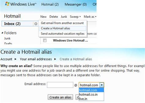 yahoo email alias got a dumb looking hotmail email address here is your