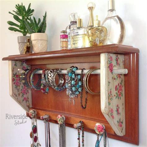 Sell Storage Decorative Rack Shabby Chic jewelry storage organizer with shelf shabby chic hanging jewelry organizer with bracelet bar
