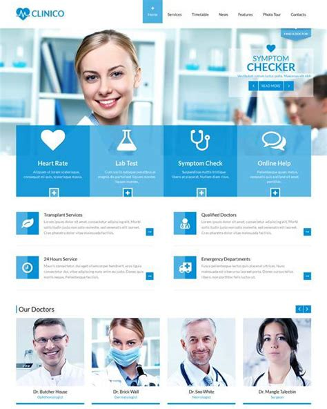 free templates for medical website 60 fantastic medical hospital website templates