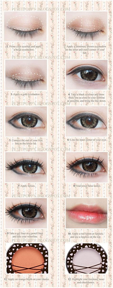 tutorial eyeliner ulzzang 17 best images about kawaii makeup on pinterest eye