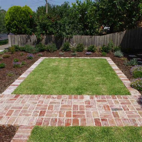 reclaimed red brick paving yard mother s backyard