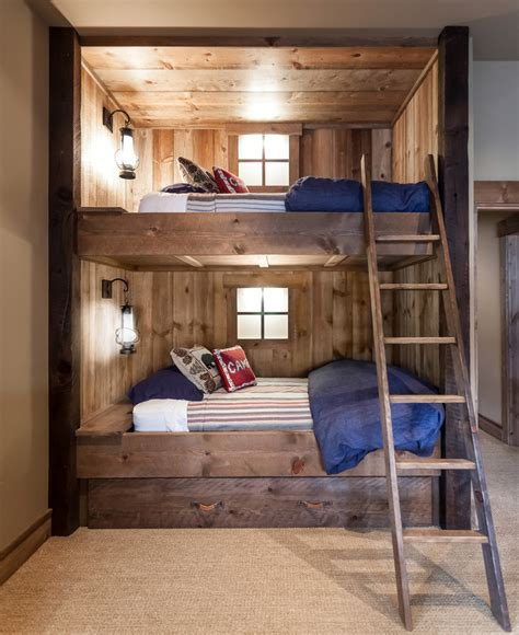 room bunk bed 65 cozy rustic bedroom design ideas digsdigs