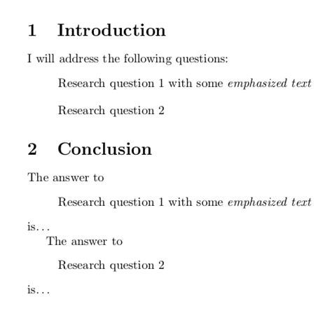 cross referencing how to repeat the content of a quote e g introduction conclusion without