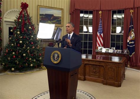Obama Oval Office Address by White House Forced To Correct Error In Obama S Primetime