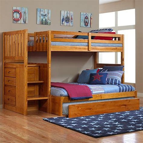 Bunk Bed Nightstand Toddler Bunk Beds With Stairs By Discovery World Furniture
