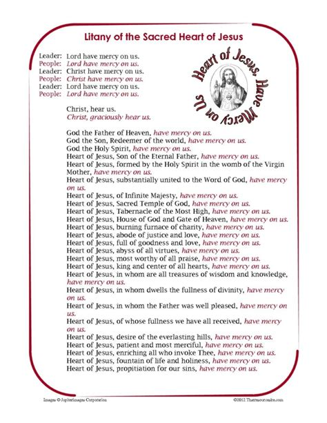 Religious Easter Decorations For The Home by Litany Of The Sacred Heart Of Jesus Printable Prayer Sheet