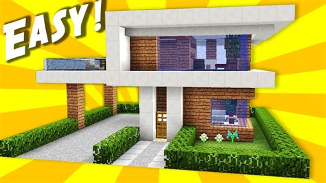 how to build a modern house in minecraft pe minecraft simple easy modern house mansion tutorial