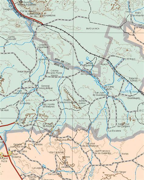 map of mexico zacatecas mapa de rios estado de mexico