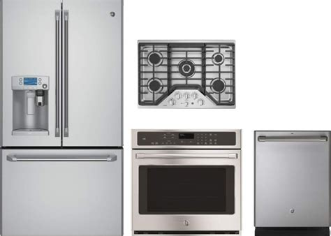oven cooktop package ge cafe 4 appliance package with cfe28ushss