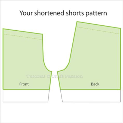 pattern making for shorts altering sewing pattern shorts length craft passion