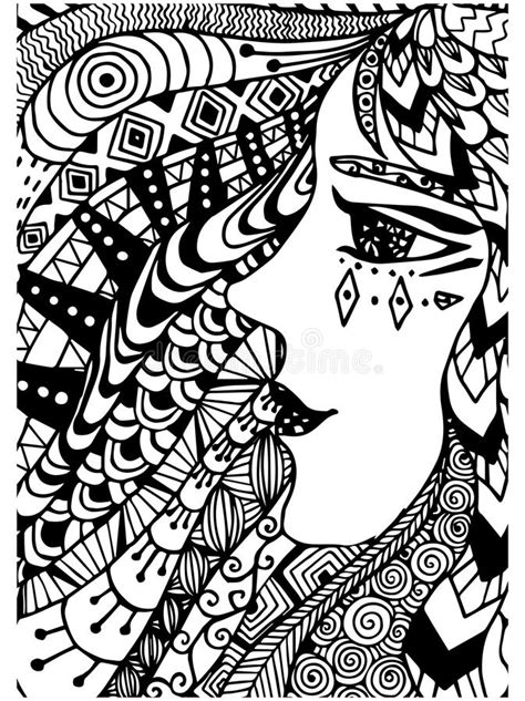 doodle tribal pattern for coloring book ethnic retro doodle