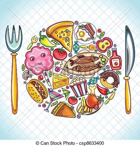 clipart cibo clipart vettoriali di cibo piastra bello illustrazione