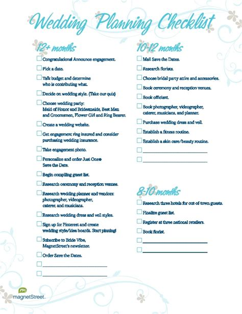 Wedding Checklist 3 Months by Wedding Planning Checklist