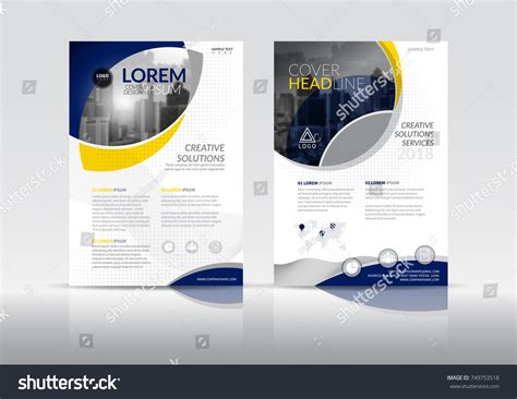 multi page booklet template cover design template annual report cover stock vector hd
