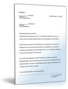 Musterbrief Einladung Sponsoren Sponsoringschreiben Sportverein Muster Zum
