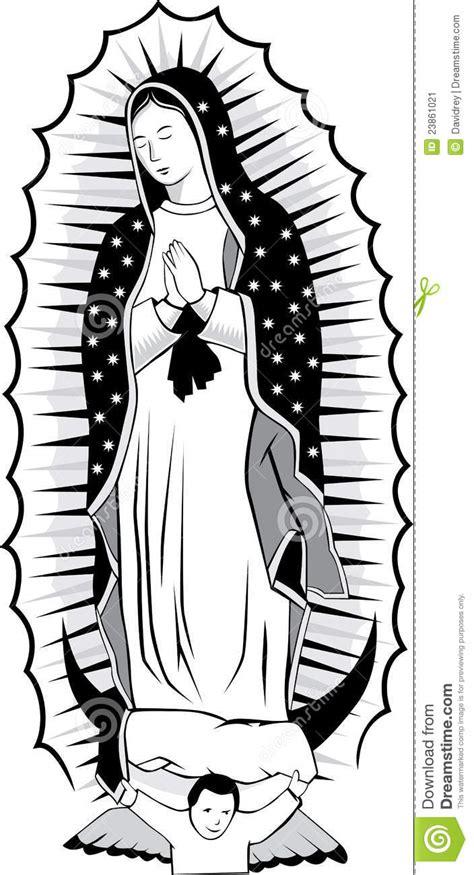 preto e branco de guadalupe imagem de stock