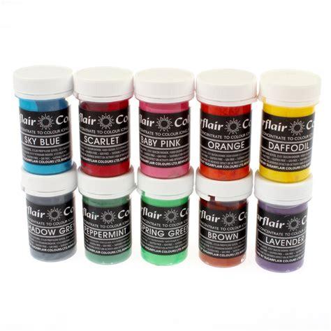 food coloring paste sugarflair set all 24 pastel paste gel icing food
