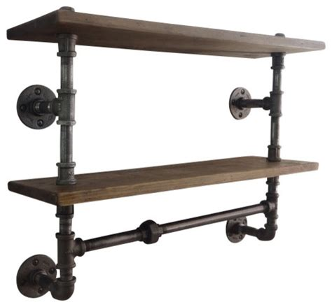 industrial pipe shelf industrial display and