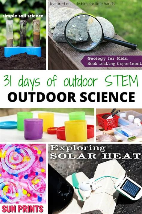 31 days of outdoor stem activities for