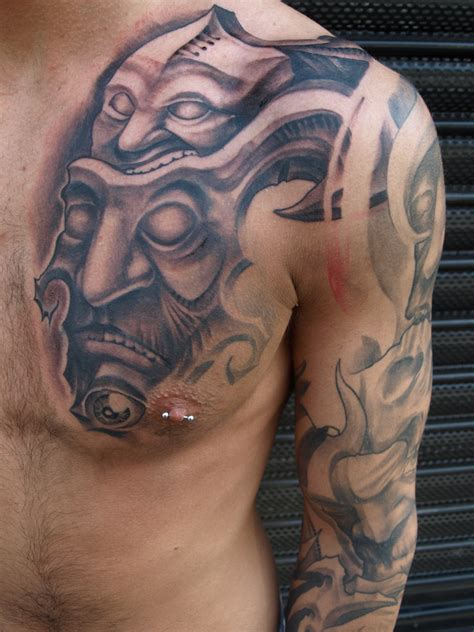 image of tattoos design 30 best chest tattoos for