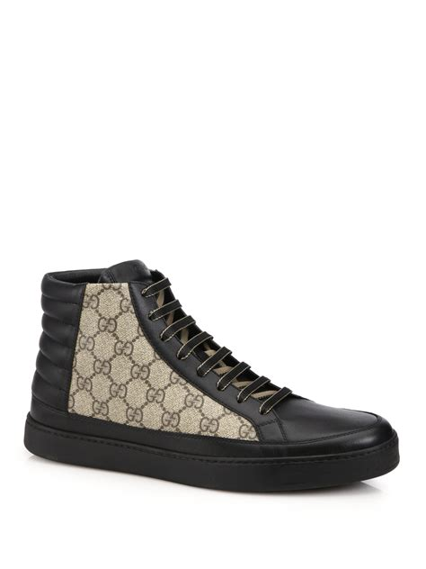 The Best Prada 3in1 Seprem gucci gg supreme canvas leather high top sneakers in black for black beige lyst