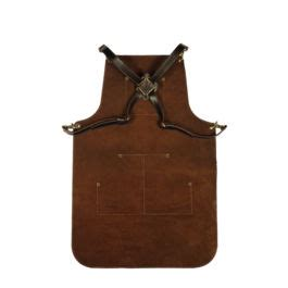 Apron Dada Kulit By Safety77 apron leather brown otten coffee jual mesin