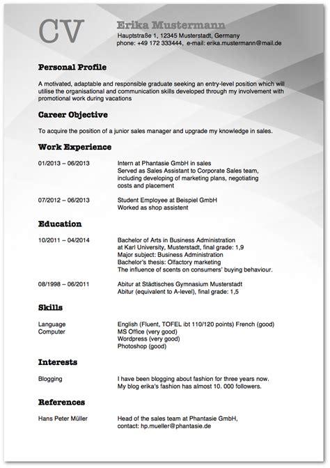Lebenslauf Muster Hotellerie Lebenslauf Auf Englisch Tipps F 252 R Resume Und Cv Karrierebibel De