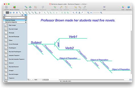 sentence diagramming software a sentence diagram conceptdraw helpdesk