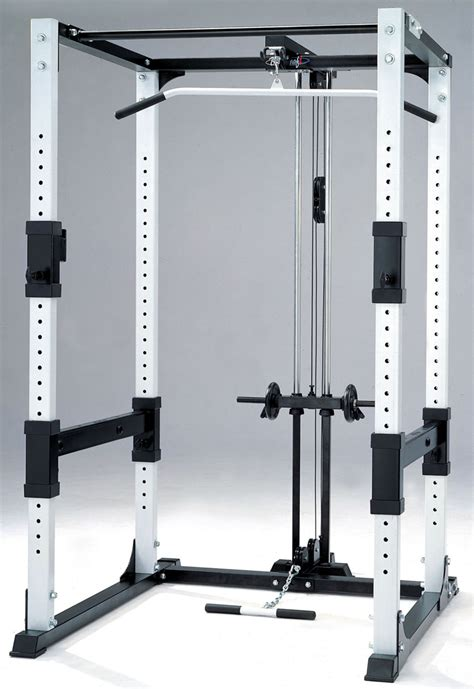 power rack set up racking bench press in front