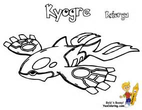 Mega Primal Kyogre Colouring Pages sketch template
