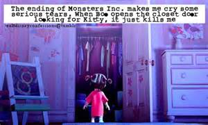 the ending of monsters inc makes me cry some serious