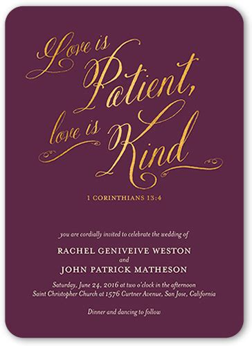 Wedding Toast With Bible Verses by Patient And Wedding Invitations Shutterfly