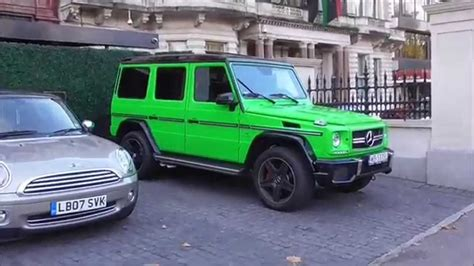 mercedes g wagon green beautiful lime green g wagon in central london youtube