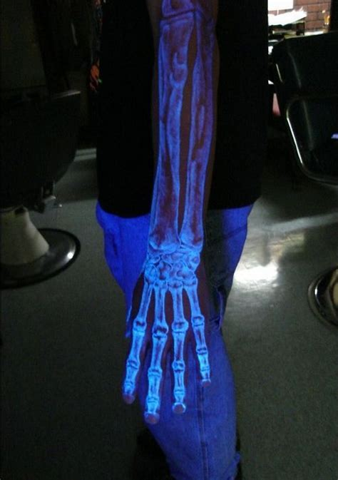 glow in the dark ink tattoo sci tattoos that are invisible in daylight
