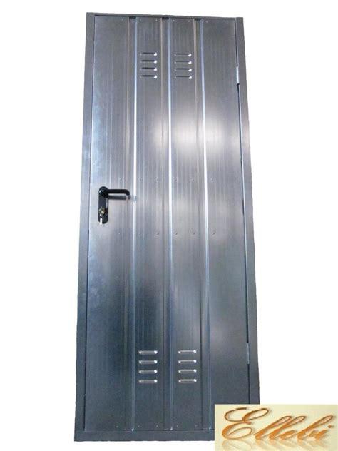 porte zincate porta per cantina garage zincata con maniglia e serratura