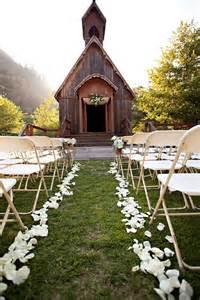 Rustic Chapel Wedding Ceremony