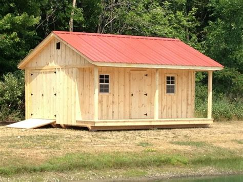 shed with porch plans 10 x 18 shed with 4 porch metal roof windows and extra door handmade by amish delivered