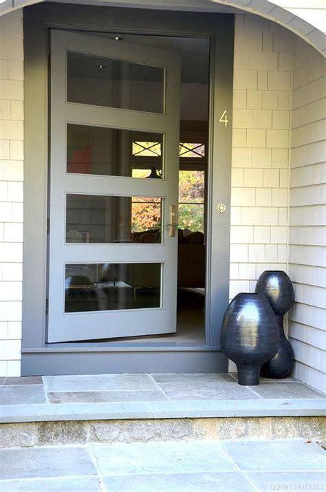 modern fiberglass door   clear glass door lites